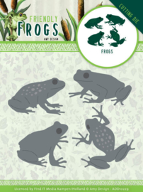 Dies - Amy Design - Friendly Frogs - Frog  ADD10229  Formaat ca. 7,6 x 6 cm - 12 x 16 cm
