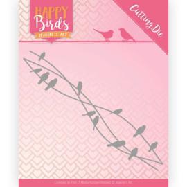Snijmal - Jeanine's Art - Happy Birds - Vogelvrienden  JAD10088 ca. 12,5 x 5,5 cm.