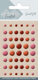 Card Deco Essentials - Enamel Dots Pearl Bordeaux  CDEED015