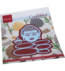 LR0727 - Buddha & balancing stones  3 pcs, 72 x 95 mm