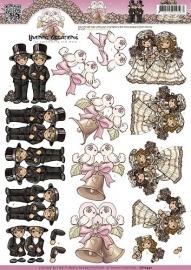 CD10442 3D Knipvel - Yvonne Creations - Homo Huwelijk