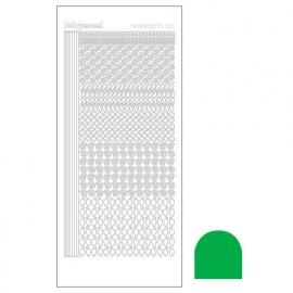 Hobbydots sticker - Mirror Green  nr.19