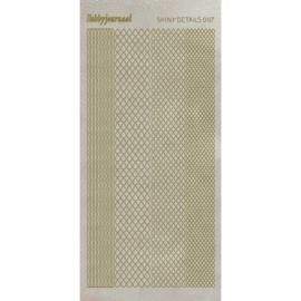 Shiny Details- Teardrop- Goud   SDS007TG