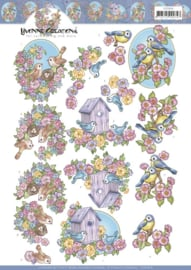 3D Cutting Sheet - Yvonne Creations - Flowers and Birds  CD11616
