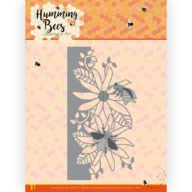 Dies - Jeanine's Art - Humming Bees - Flower Border JAD10126   Formaat ca. 12,5 x 6,5 cm
