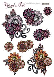 Yvon's Art - Fantasy Flower Pink CD11310