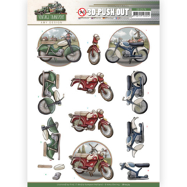 3D Push Out - Amy Design - Vintage Transport - Moped  SB10574