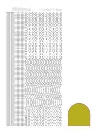 Hobbydots sticker  nr 2- Mirror - Yellow