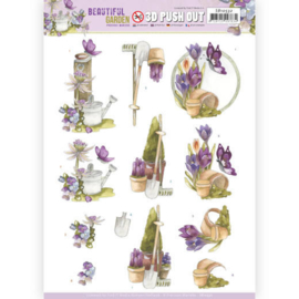 3D Push Out - Precious Marieke - Beautiful Garden - Butterfly SB10532