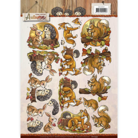 3D Knipvel - Yvonne Creations - Autumn Colors - Autumn Animals   CD10947