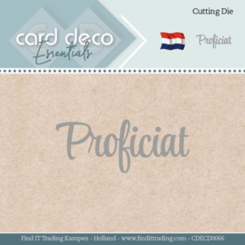 Card Deco Essentials - Dies - Proficiat  CDECD0066