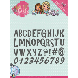 Die - Yvonne Creations - Sweet Girls - Lovely Alphabet   YCD10121