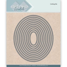 Card Deco Essentials Cutting Dies Ellipse   CDECD0021   Formaat ca. 10,2 x 12 cm.