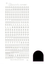 Clippunch Alphabet sticker adhesive black