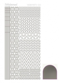 Hobbydots sticker 12 - Mirror - Silver