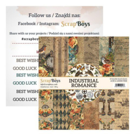 ScrapBoys Industrial Romance paperpad 24 vl+cut out elements-DZ   INRO-09 190gr 15,2cmx15,2cm