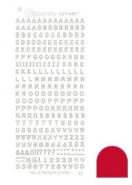 Clippunch Alphabet sticker adhesive red