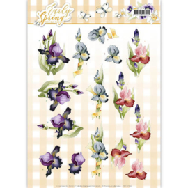 3D Knipvel - Precious Marieke - Early Spring - Early Irises  CD11024