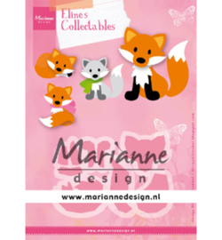 COL1474 - Eline's Cute Fox 8 pcs, 99 x 68 mm