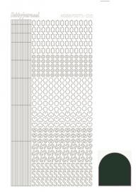 STDM10J Hobbydots sticker - Mirror - Christmas Green