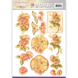 Pushout - Jeanine's Art - Vintage Flowers - Sweetheart Vintage   SB10239