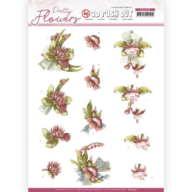 3D Push Out - Precious Marieke - Pretty Flowers - Red Flowers  SB10499