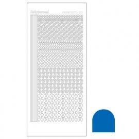 Hobbydots sticker - Mirror Blue  nr.19