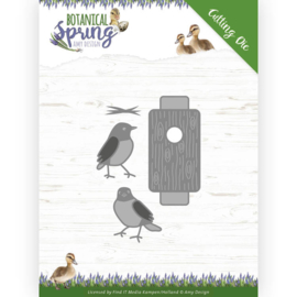 Dies - Amy Design - Botanical Spring - Busy Birds  ADD10202 Formaat ca. 5,6 x 7,7 cm