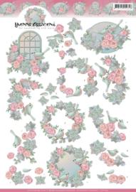 3D Knipvel - Yvonne Creations - Birds and roses   CD11152