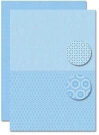 Decoupage sheet - Doublesided - Lightblue - Babyboy-flowers NEVA076