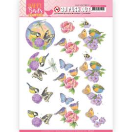 3D uitdrukvel - Jeanine's Art - Happy Birds - Geurende bloemen  SB10416