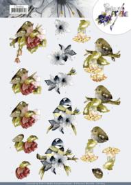 3D Cutting Sheet - Precious Marieke - Birds  CD11603