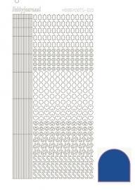 Hobbydots sticker 10 - Mirror - Blue