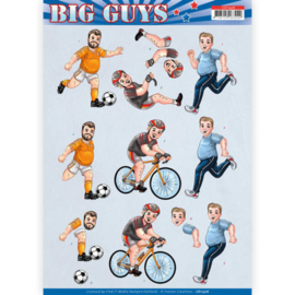 3D knipvel - Yvonne Creations- Big Guys - Sports   CD11326