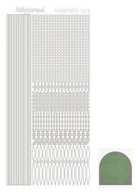 Hobbydots sticker - Mirror - Apple  nr.3