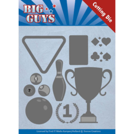 Dies - Yvonne Creations - Big Guys - Play to Win   YCD10170