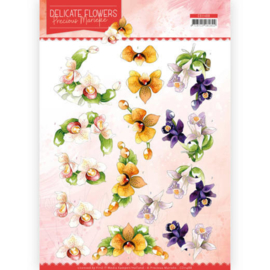 3D Cutting sheet - Precious Marieke - Delicate Flowers - Orchid  CD11488