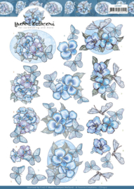 3D cutting sheet - Yvonne Creations - Blue Butterflies  CD11417