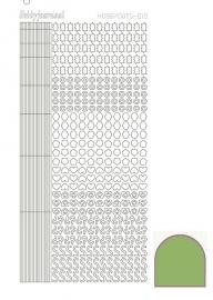 Hobbydots sticker  nr 10- Mirror - Lime