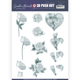 3D Push Out - Jeanine's Art - Sensitive Moments - Grey Calla Lily  SB10473