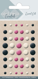 Card Deco Essentials - Enamel Dots Black White and Red  CDEED001