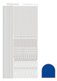 Hobbydots sticker - Mirror - Blue  nr.3