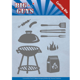 Dies - Yvonne Creations - Big Guys - BBQ time  YCD10171
