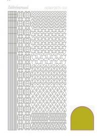 Hobbydots sticker  nr 12- Mirror - Yellow