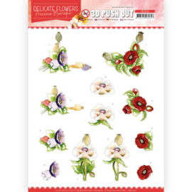 3D Push Out - Precious Marieke - Delicate Flowers - Poppy  SB10451