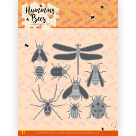 Dies - Jeanine's Art - Humming Bees - All Kinds of Insects  JAD10127   Formaat ca. 10 x 10 cm