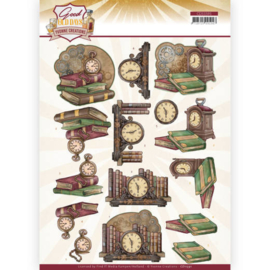 3D cutting sheet - Yvonne Creations - Good old day's - Clock  CD11591