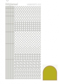 Hobbydots sticker  nr 10- Mirror - Yellow