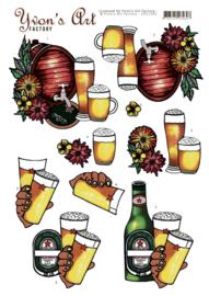 3D Knipvel - Yvon's Art - Beer  CD11343