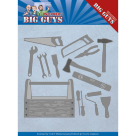 Dies - Yvonne Creations - Workers - Handyman Tools YCD10203  Formaat ca. 13 x 11,2 cm